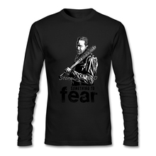 Negan The Walking Dead Men Shirt Family High Quality Custom Long Sleeve Latest Designing T Shirts(China)