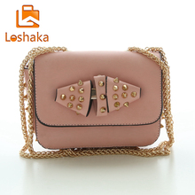 Rivet Women Shoulder Bag Fashion Brand Women Bag Chain Strap Messenger Bag Swing Design Mini PU Leather Crossbody Bag Flap
