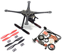 S500 PCB 500mm Quadcopter Frame kit + Naza M Lite Flight Controller Board w/ PMU / LED / Cables / Ublox M8N GPS holder(China)