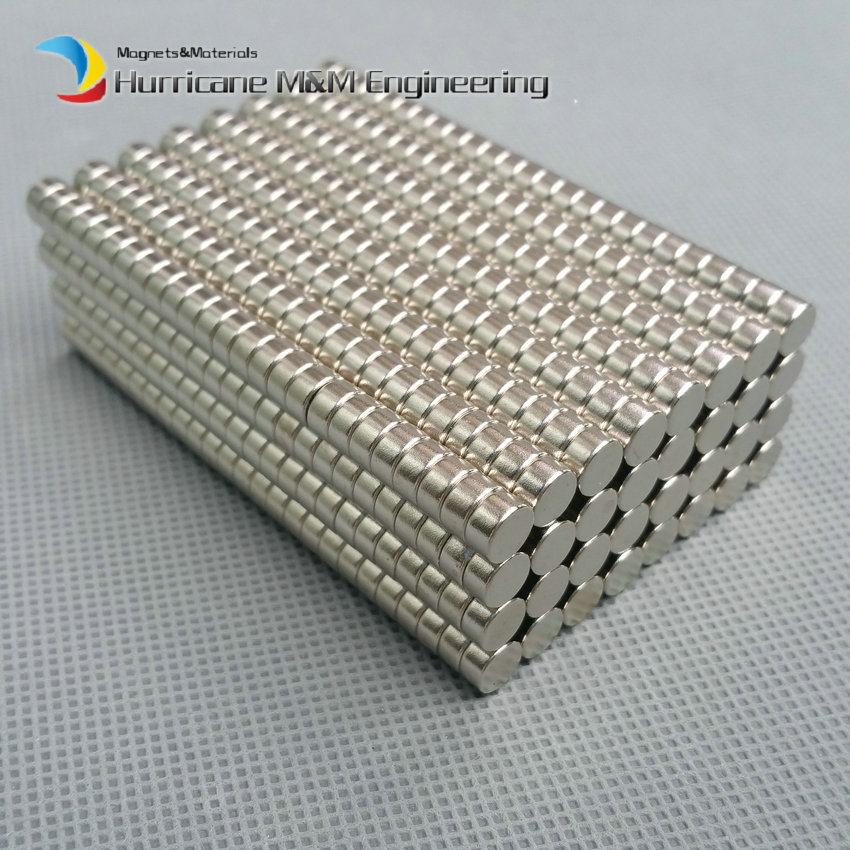 1 pack Grade N35 NdFeB Disc Magnet Diameter 6x4 mm Jewelry magnet Neodymium Permanent Magnets NiCuNi Plated Axially Magnetized<br>