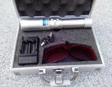 960 Super Powerful 50000mw Blue laser pointers 450nm Flashlight burn match balloon dry wood/cigarettes+charger+glasses+bo