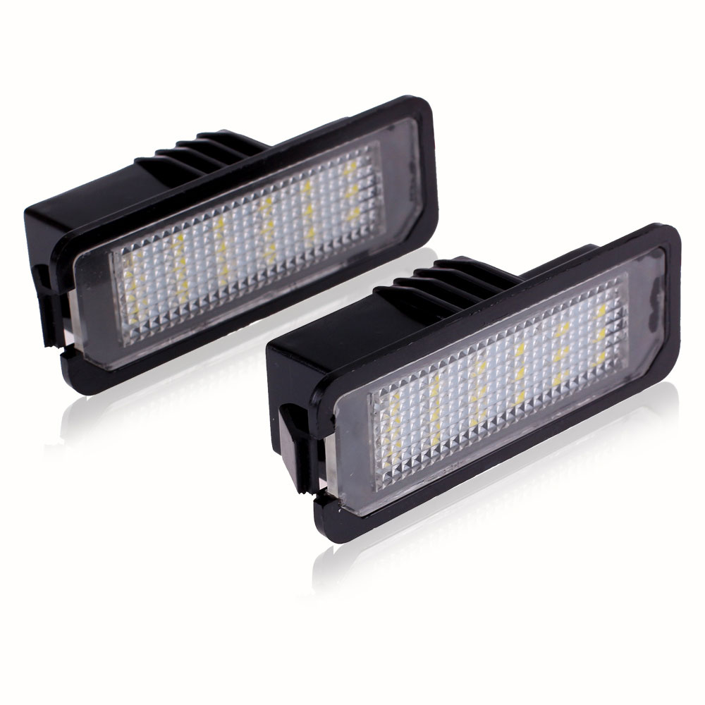 New 2Pcs LED License Plate Lights SMD3528 Number Plate Light For VW Golf GTI 5 6 Passat Phaeton Beetle CC For Porsche<br><br>Aliexpress