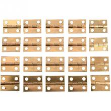 High Quality 20pcs 10*8MM Brass hinges Mini Luxury Gold Cabinet Drawer Door Butt Hinge Copper Gold 4 Small Hole Hinge Home Tools