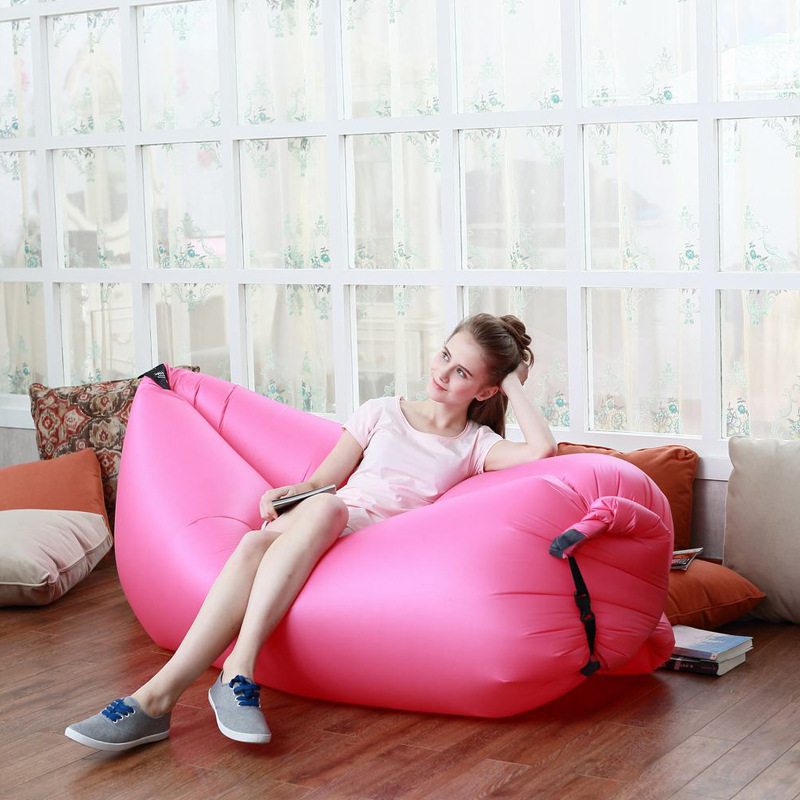 Inflatable Air Sleep Sofa Portable Furniture Couch Lounger lying  Bed Nylon PVC Soft for Summer Outdoor Camping Beach<br><br>Aliexpress