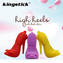 Fashional Cartoon High Heels Shape 32GB USB Flash Drive Stick 16GB Pen Drive 4GB Memory stick 8GB pendrive u disk nice gift