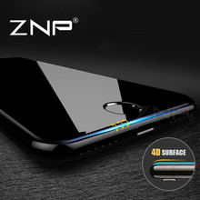 ZNP 4D (2nd Gen 3D) Full Cover Tempered Glass For iPhone 7 7 Plus 9H Screen Protector Film For iphone 7 7plus Tempered Glass(China)