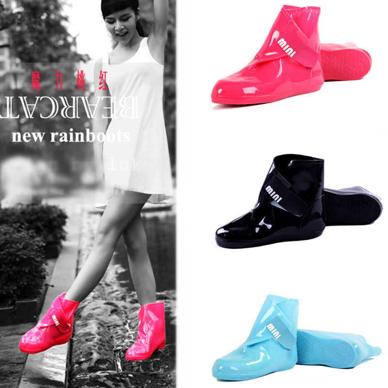 Women Rain Boots Shoe Cover For Girls Ladies Casual Walking Outdoor Hunting Waterproof Rubber Shoes Ankle Martins Pvc Rainboots<br><br>Aliexpress