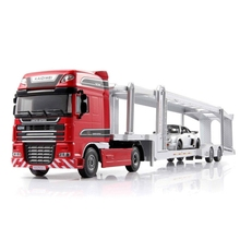 High Quality 1:50 Scale Alloy Car Transporter Toy New Engineering Truck Toys For Children Alloy Car Kid Toy Free shipping
