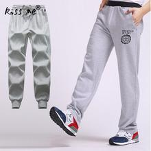 2017 Cotton Casual Men Pants Male sweatpants Loose Sportswear Menswear Elastic Waist Thick Trousers mens joggers Pants