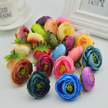 100pcs artificial plastic rose flowers cheap bridal accessories clearance vases for decora wedding diy wreath silk small tea bud