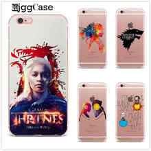 Game of Thrones watercolor cover TPU transparent soft Silica gel phone case cover For iPhone 7 5 5S SE 6 6S Plus 7Plus 8 4s 5c