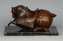 New Design Animal ' s Modeling Bronze Antiques Chinese Tang Horse Statue  Home Decoration AL-0F9