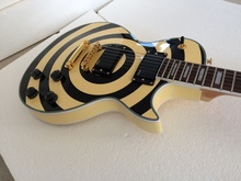 Electric guitar Zakk Wylde bullseye black E-M-G Active pickups 81 /85 With 9V Battery Guitars In Stock Free Shipping