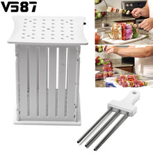 Plastic 36 Holes Skewers Box Meat Vegetable Barbecue Fork Food Slicer BBQ Brochette Grill Kebab Maker Home Outdoor BBQ Tools Kit
