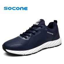 Socone Running Shoes For Men Male Lightweight Lace-up Sneakers Outdoor Fitness Athletic Sport Trainers Comfort Walking Shoes