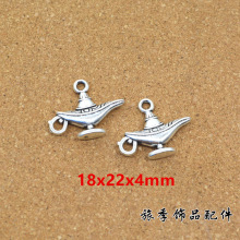 50pcs Charms aladdin magic lamp genie 22*18mm Antique Making pendant fit,Vintage Tibetan Silver,DIY bracelet necklace