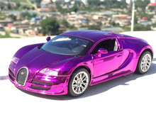 Amazing 1:32 Alloy Car model for Bugatti Veyron Simulation Car Models Pull Back Diecast Car Children Toys Car collections(China)