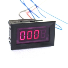 Red LED Car Motorcycle Digital Tachometer Tacho Gauge with Battery Overvoltage Alarm Dispay Engine Speed Automatically