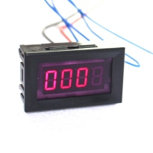 Red LED Car Motorcycle Digital Tachometer Tacho Gauge with Battery Overvoltage Alarm Display Engine Speed Automatically(China)