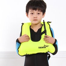 Children Kids Life Jacket Snorkeling Gear Swimwear Oral Inflation Inflatable Vest Water Sports Life Saving For Boating Surfing(China)