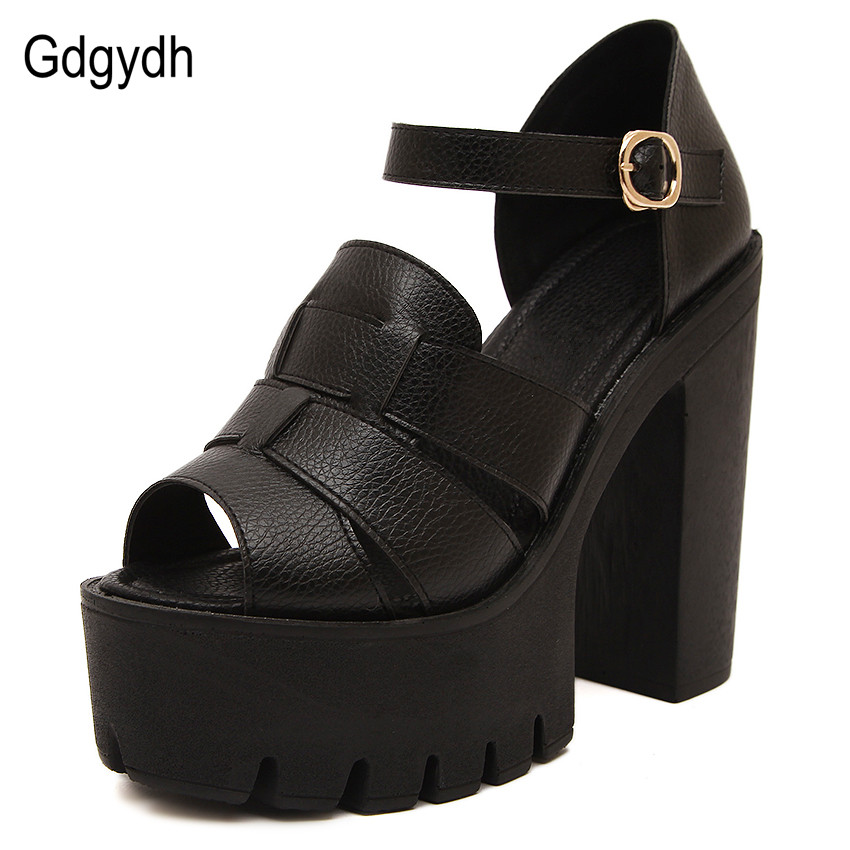 Gdgydh Fashion 2017 new summer wedges platform sandals women Black and White open toe high heels female shoes Free shipping<br><br>Aliexpress
