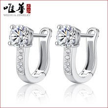 The only Chinese jewelry manufacturers Hongkong star with a buckle ear ear ring 925  earrings earrings Korean female buckle ear