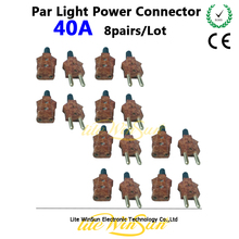 Litewinsune 8 Pairs 40A Par LED Lighting Plug Daisy Chain Power Cable Connectors DJ Equipment Accessories Repair Parts