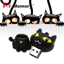 USB flash drive cat model pen drive lovely black cat flash card 4gb 8gb 16gb 32gb Pendrive USB stick full capacity(China)