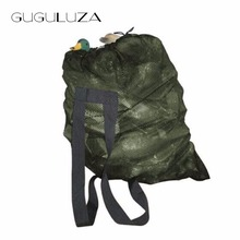 GUGULUZA Duck Decoys Bag With Shoulder Straps Mesh Backpack Decoy Bags Pigeon/Dove Carry Decoys Green(China)