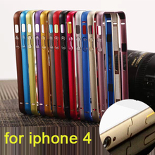 Metal Ultra Thin Frame Cover for iphone 4 4s Call Phone Cases Protector Luxury Aluminum Bumper Case For Apple iPhone 4 4S 4G
