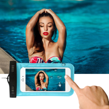 "Waterproof Pouch for iPhone 5s SE 6 6s Plus Universal 4.8""-6.0"" Mobile Phone Underwater Water proof Bag for Galaxy Huawei Xiaomi"