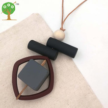 Geometric irregular Bar Cluster Necklace Modern Tribal dark color Chic bead necklace cube cylinder NW156