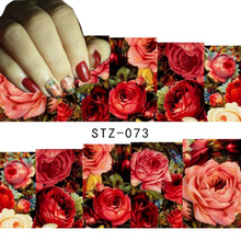 1 sheet Sexy Red Rose Water Transfer Nail Art Stickers Decals Decorations DIY Watermark Wraps Manicure Tools SASTZ-073