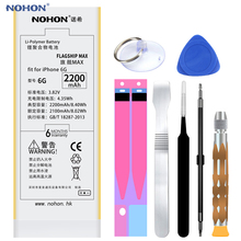 Original NOHON Battery for Apple iPhone 6 6G iPhone6 2200mAh Replacement High Capacity Phone Bateria with Free Tools Kit sticker(China)