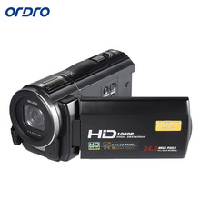 "ORDRO HDV-F5 1080P HD Digital Video Camera 24MP 16X Anti-shake 3.0"" Rotatable Touch Screen LCD Camcorder DV With Remote Control(China)"