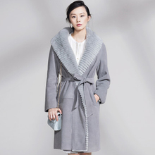 Buy Natural wool coat 2017 best natural sheepskin coat grey blue suede winter jacket thick leather jacket for $649.00 in AliExpress store