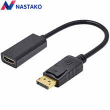 NASTAKO New Black for HP/DELL Laptop PC Male To Female DP to HDMI Cable Display Port to HDMI Adapter Converter