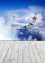 Baby Sky Photo Backdrops Airplane Studio Props Wooden Floor Photography Background Vinyl 5x7FT or 3x5FT Jieq440