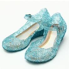 2017 Crystal Girl's Sandals Princess Cosplay Children's Shoes Mary Jane Shoes For Stage Dancing Show Kids High Quality Shoes(China)