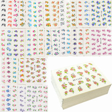 60 Sheets Mixed Flower Designs Water Transfer Nail Art Sticker Watermark Decals DIY Decoration For Beauty Nail Tools(China)