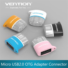 VENTION Mini OTG Adapter USB to Micro USB 2.0 Converter For Samsung HTC Xiaomi Sony Android OTG Card Reader Usb OTG adapter