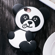 Fashion cartoon animals monsters cute tongue panda teddy bear joy doll cell phones case for iphone 6 6s plus 6S plus / 7/7 plus