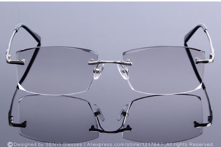 34055e305b 2019 Diamond Trimmed Eyeglasses Men Rimless Reading Glasses Frame ...