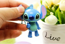 10pcs/lot 6cm Disny Cartoon Stitch Doll ABS Key Chains Bag Ornament Hanging Kids Birthday Festival Party Favors