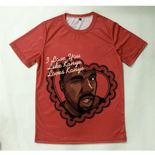 Real American size Kanye West Love 3D Sublimatin print  high quality T-shirt Custom Made Clothing plus size