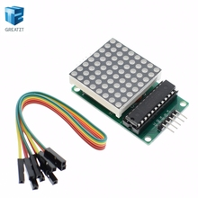 Dot matrix display module MAX7219 single-chip control module DIY kit for arduino(China)