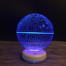 Star War Death Star DS-1 platform Ultimate Weapon Lighting TOYS Icon Visual Illusion LED 3D Light Nightlight Action Figure(China)