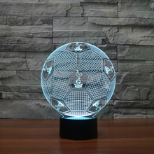USB 3D Lights london Football Club ilywhites LED Touch Lamp Soccer fc Night Light 3D Visual lights Desk Luminaria football Lamp