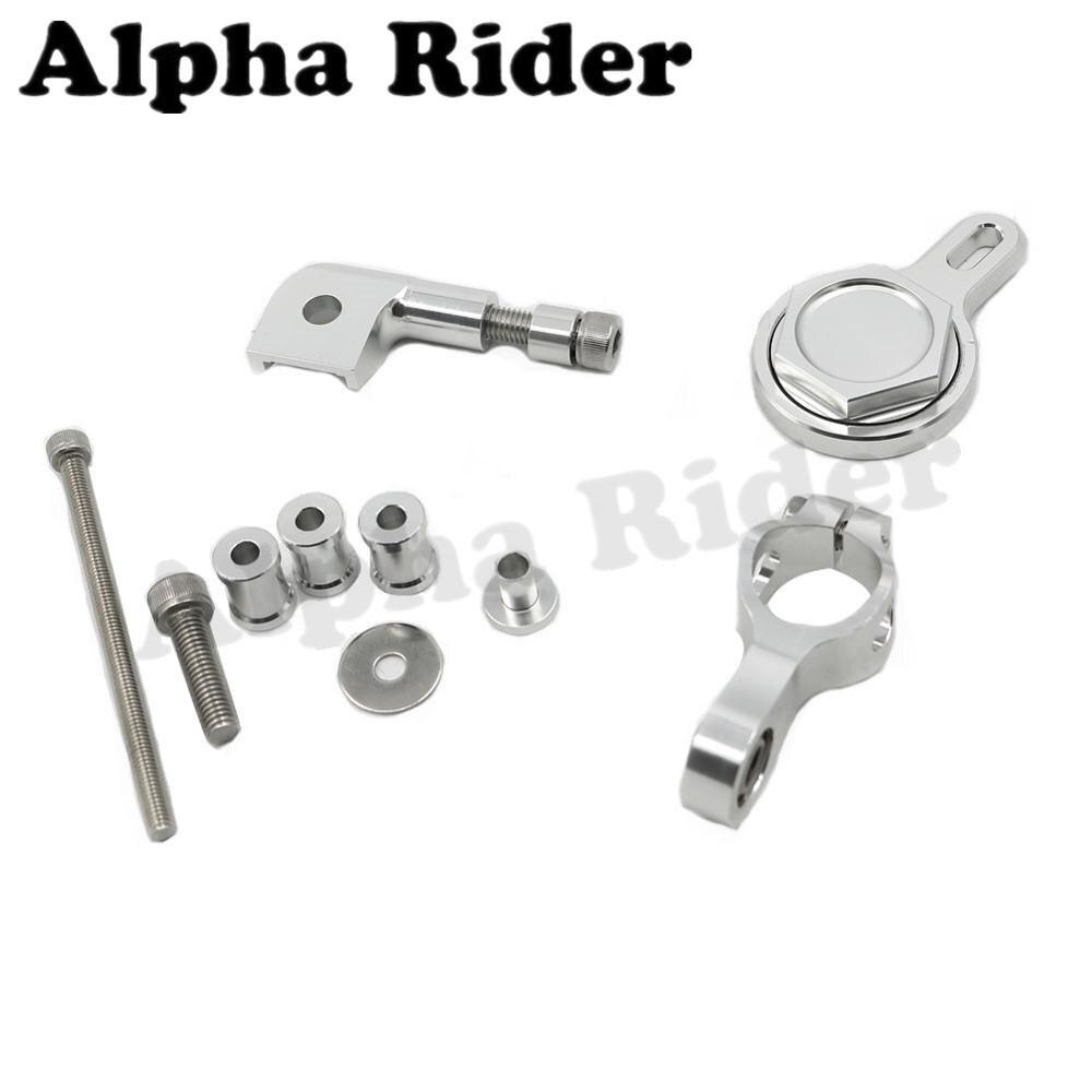 Silver CNC Direction Steering Damper Stabilizer Holder Bracket Mounting Kit for Yamaha YZF R1 1998-2004 2003 2002 2001 2000 1999<br><br>Aliexpress