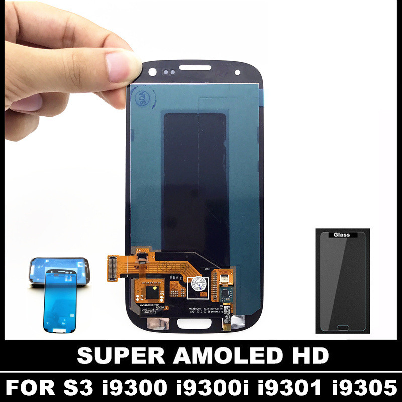 100% Test AMOLED LCD Replacement For Samsung Galaxy SIII S3 i9300 i9300i i9301 i9305 LCD Display Touch Screen Digitizer Assembly(China (Mainland))